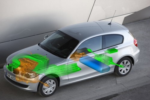 BMW 1-Series fuel cell hybrid illustration