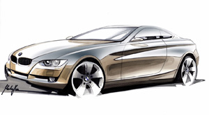 Bmw 3-series coupe sketch