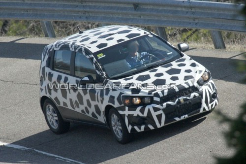 2012 Chevrolet Aveo spy photo