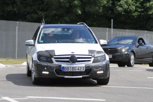 2011 Mercedes C-Class Estate/Wagon Spy Photo