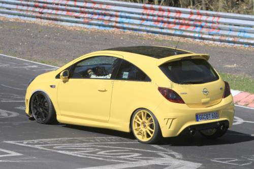 Opel Corsa OPC Nurburgring Edition spy photo