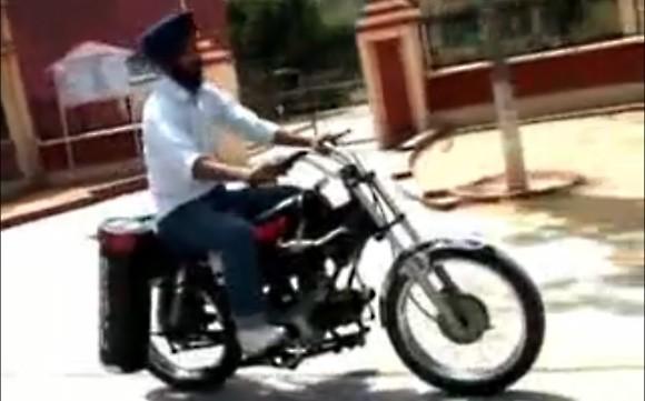 Мотоцикл работающий на воздухе
