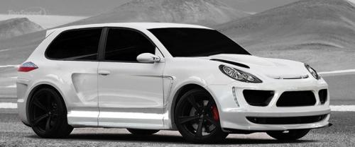 Two-door Porsche Cayenne Turbo
