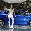 The new Fiat Bravo is seen during it first European presentation at the media day of the 77th Geneva Motor Show