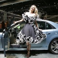 Top model Adriana Karembeu shows the new Cadillac, 01 March 2005 at the 75th Geneva Motor Show