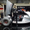 A prototype of Toyota Motor Triathlon Race Car is unveiled 02 March 2004 at the Geneva Motor Show