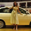 The Lancia Ypsilon is displayed at the 73rd Geneva International Motor Show