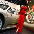 The Ferrari F430 Spider Bio Fuel Concept car is displayed during the press preview days