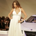 Supermodel Petra Nemcova introduces the Saab AeroX Concept vehicle at the GM Style event on the eve