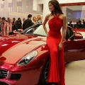 A Ferrari GTB Fiorano 599 is presented during the press days at the Paris Motor Show
