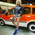 The Panda Alessi Fiat is on display at the annual motor show