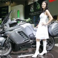 Japan's motorcycle giant Kawasaki Heavy Industries displays the concept motorcycle 1400GTR