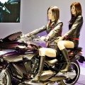Japan's motorcycle maker Kawasaki Motors unveils the concept model of mega-sports motorcycle 'ZZR1400'