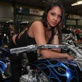 Victoria Model Tasha Wilson poses on a Custom Rigid from A and A Performance at the 1st annual Vancouver Island