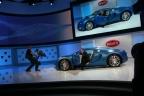 bugatti veyron bleu centenaire side open