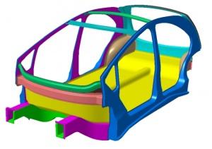 EDAG Light Car chassis