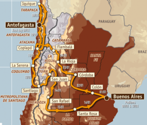 2010 Dakar Route
