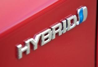 Prius hybrid badge