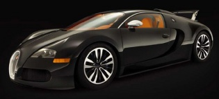 Bugatti Veyron Noir сбоку