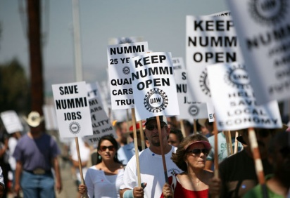 Nummi Closure Protesters