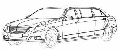 Mercedes Benz E class limousine