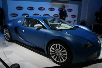 bugatti veyron bleu centenaire side