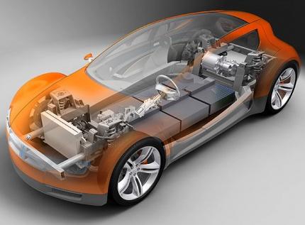 Схема электромобиля Dodge ZEO