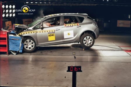 Opel Astra 2010 Front crash test