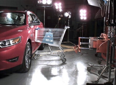 Ford crash test market cart