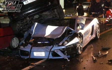 Gallardo Crash