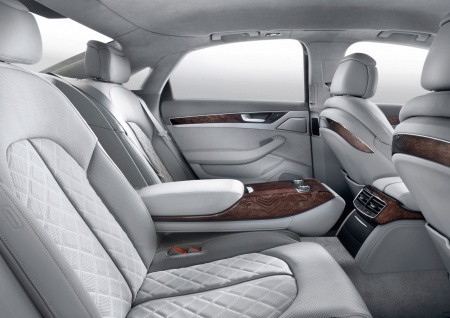 Audi A8 backseats