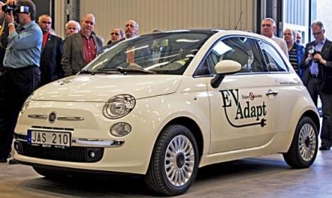 Электромобиль Fiat 500 от AutoAdapt
