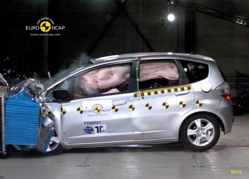 Honda Jazz 2009 crash test