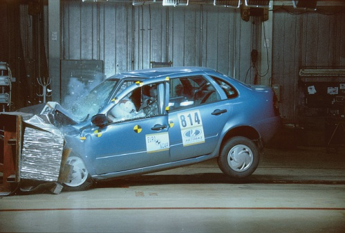Lada Kalina crash test