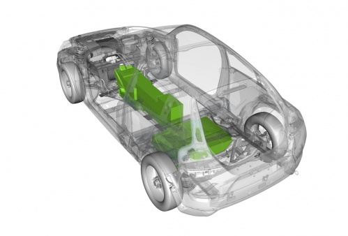 Battery-powered Volvo C30 powertrain