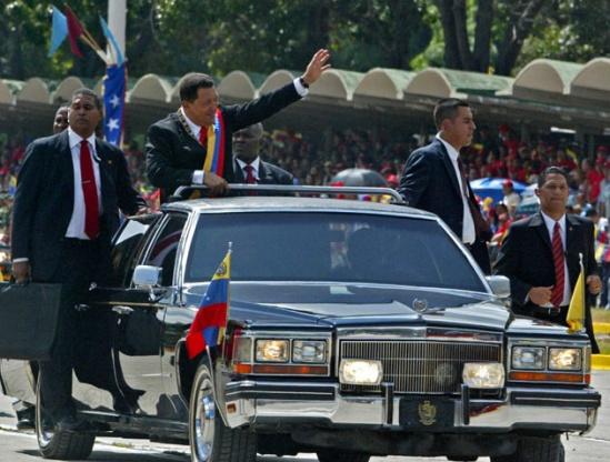 Уго Чавес на Кадиллаке