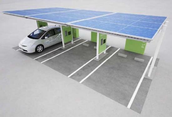 Электрозарядная станция на солнечных батареях