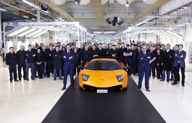 Четырехтысячный экземпляр Lamborghini Murcielago