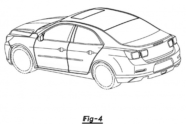 Первые наброски седана Chevrolet