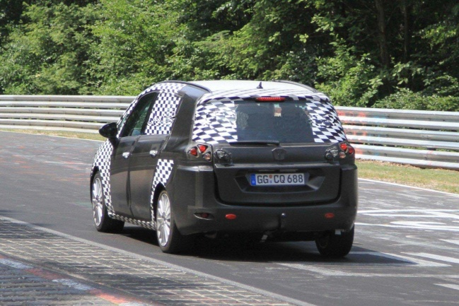 2012 Opel Zafira spied on Nurburgring