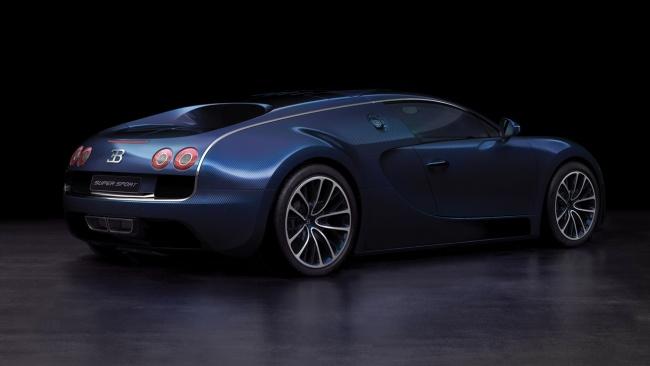 bugatti veyron super sport blue carbon fiber