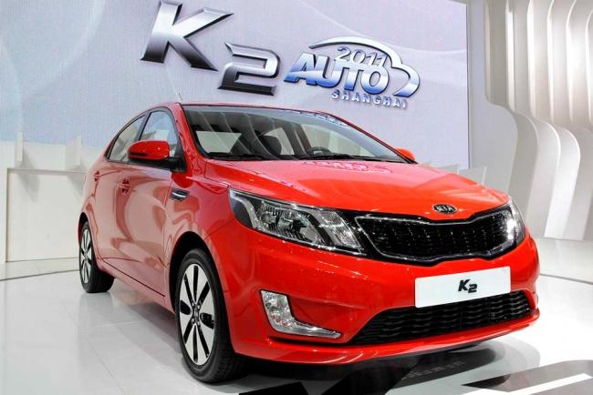 Kia показала в Шанхае новый седан K2