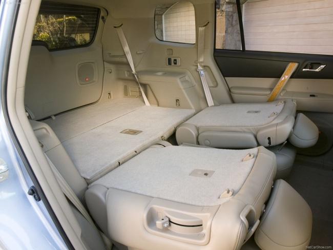 Объемное багажное отделение Toyota Highlander